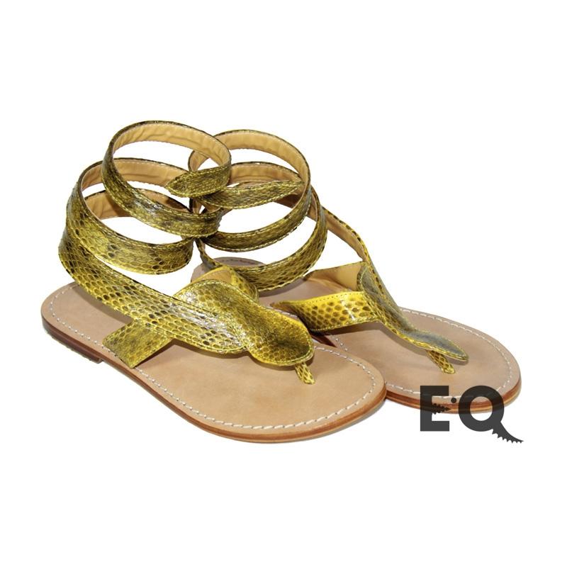 Желтые сандалии из кобры