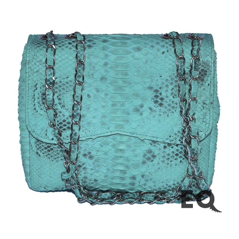 Бирюзовая сумочка из питона