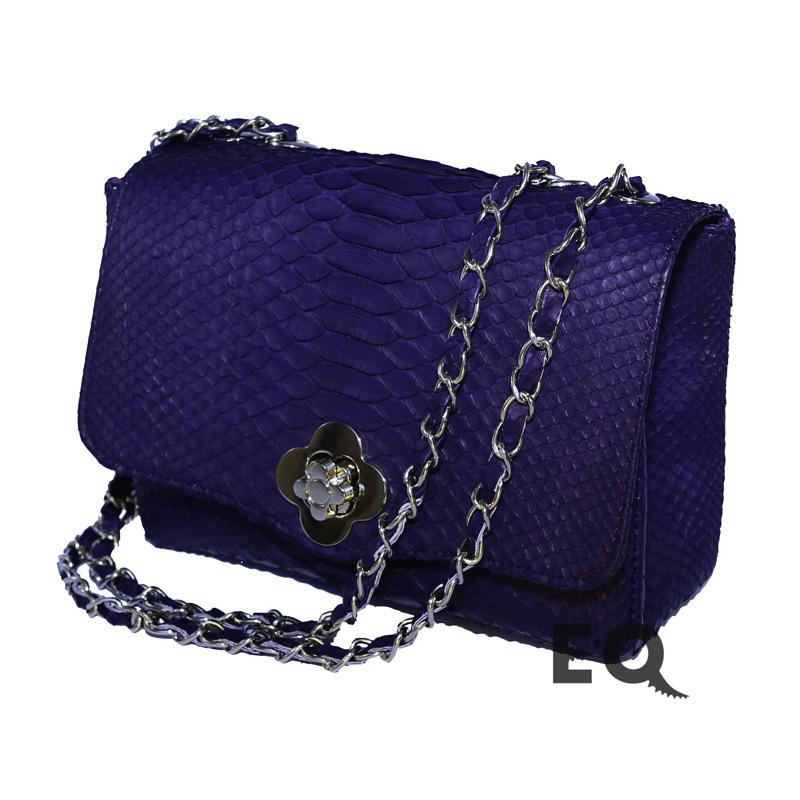 Темно-фиолетовая сумочка из питона