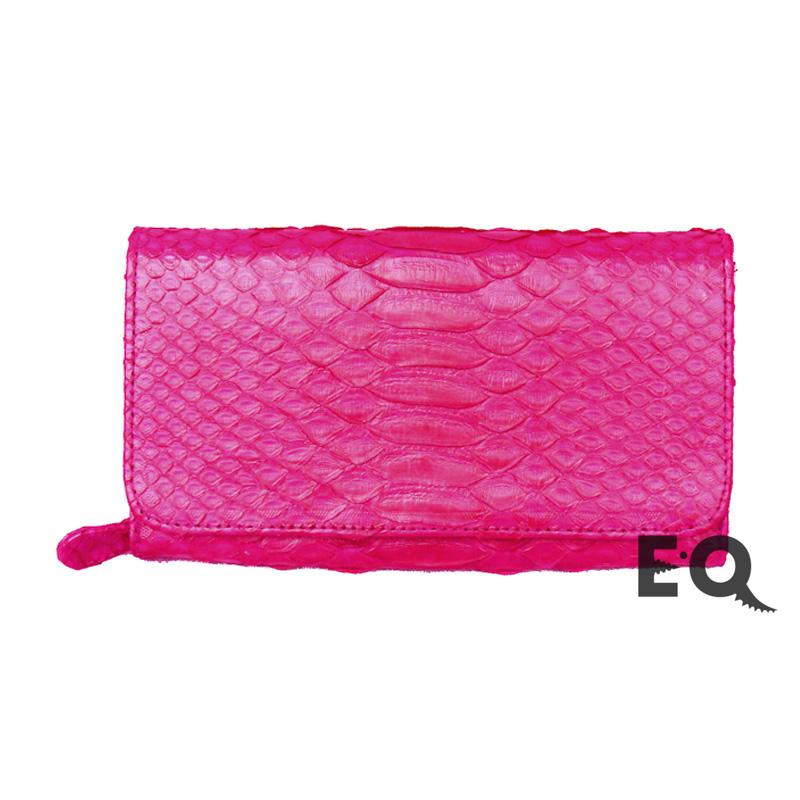 Кошелек розовый питон
