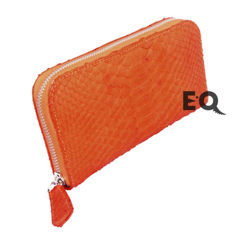 Кошелек оранжевый питон