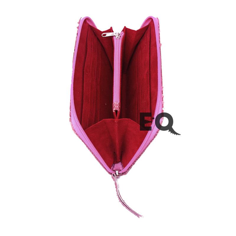 Кошелек темно розовый питон