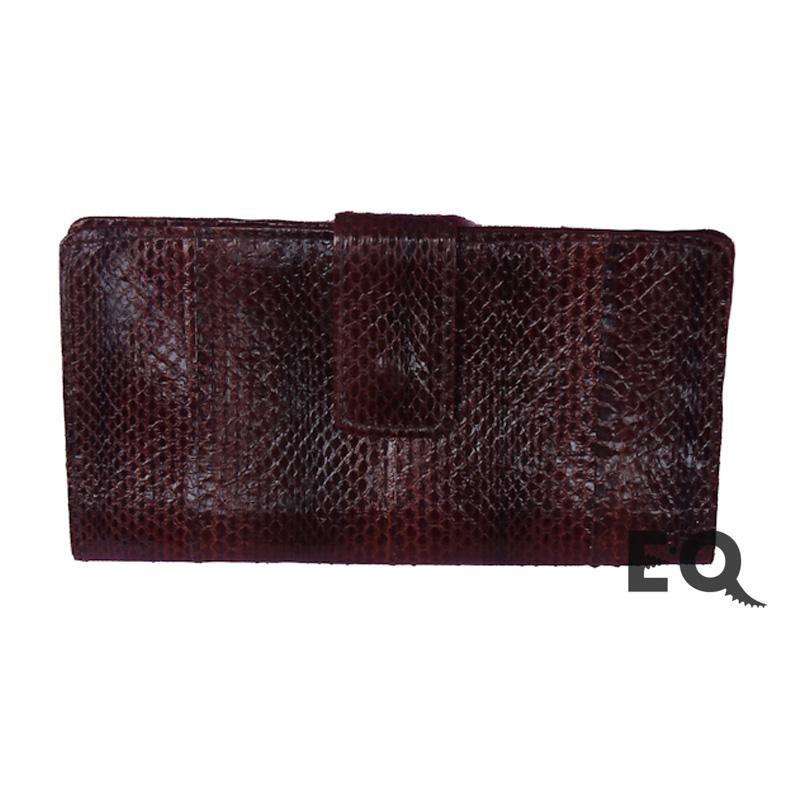 Бумажник темно красная кобра