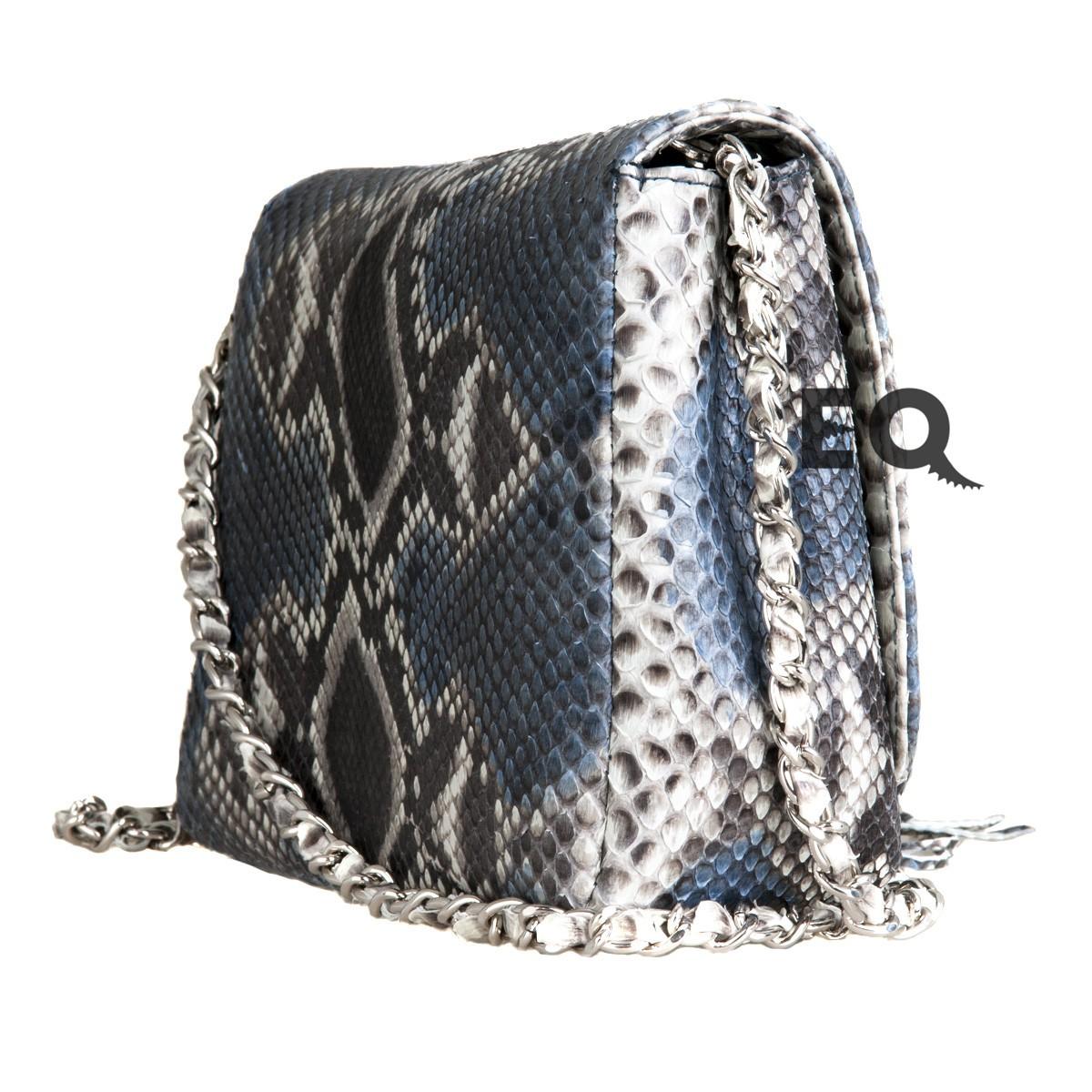 Серая сумочка из питона