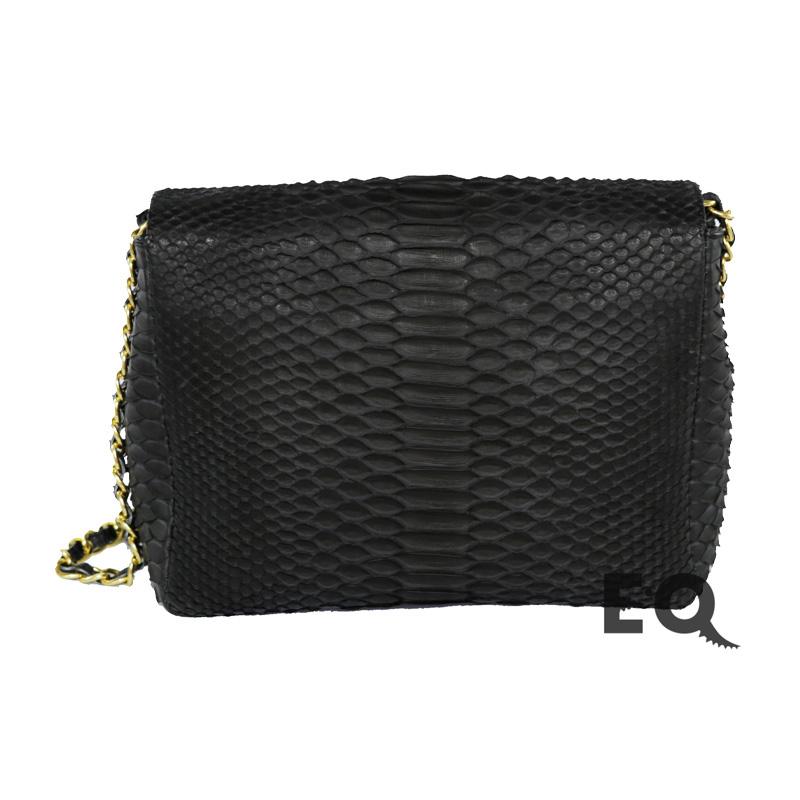 Черная сумочка из питона