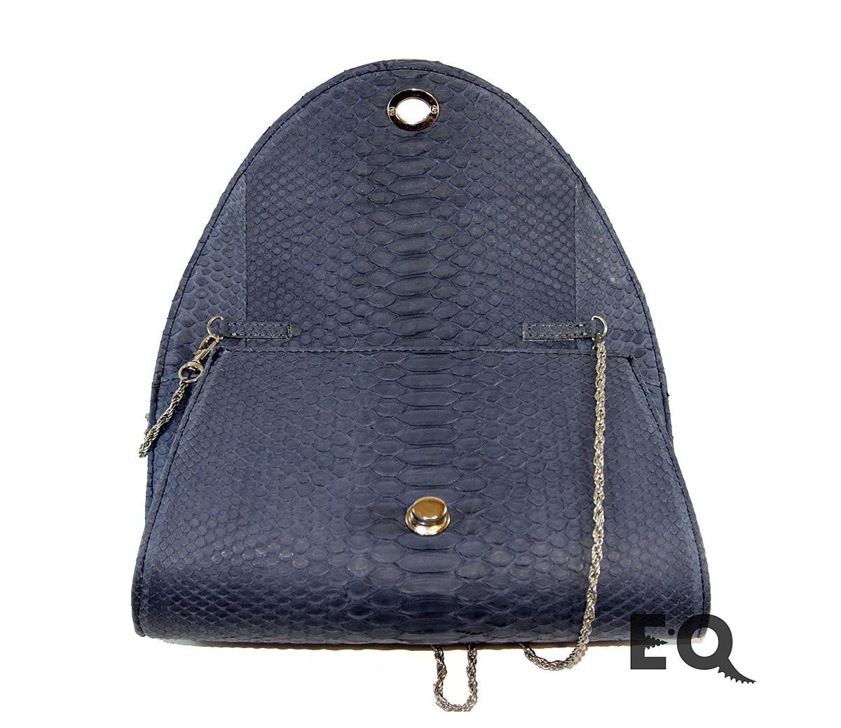 Темно-серая сумочка из питона