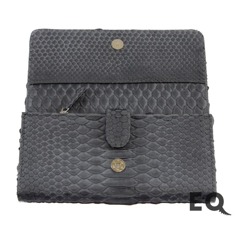 Темно-серый кошелек из питона