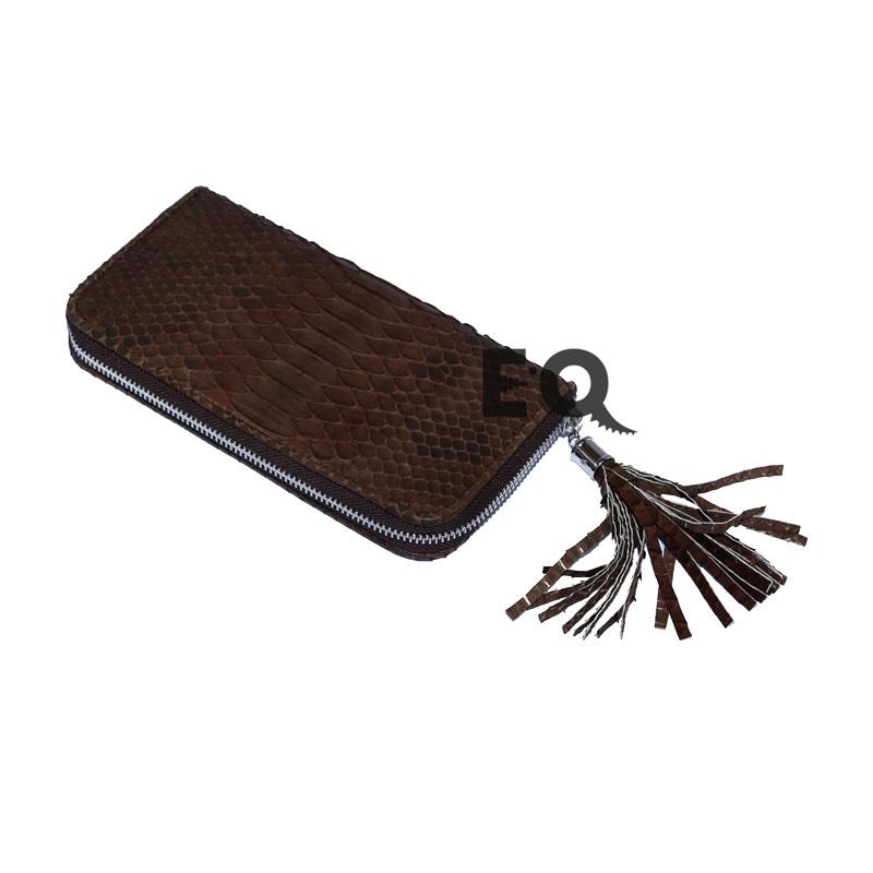 Коричневый кошелек из питона