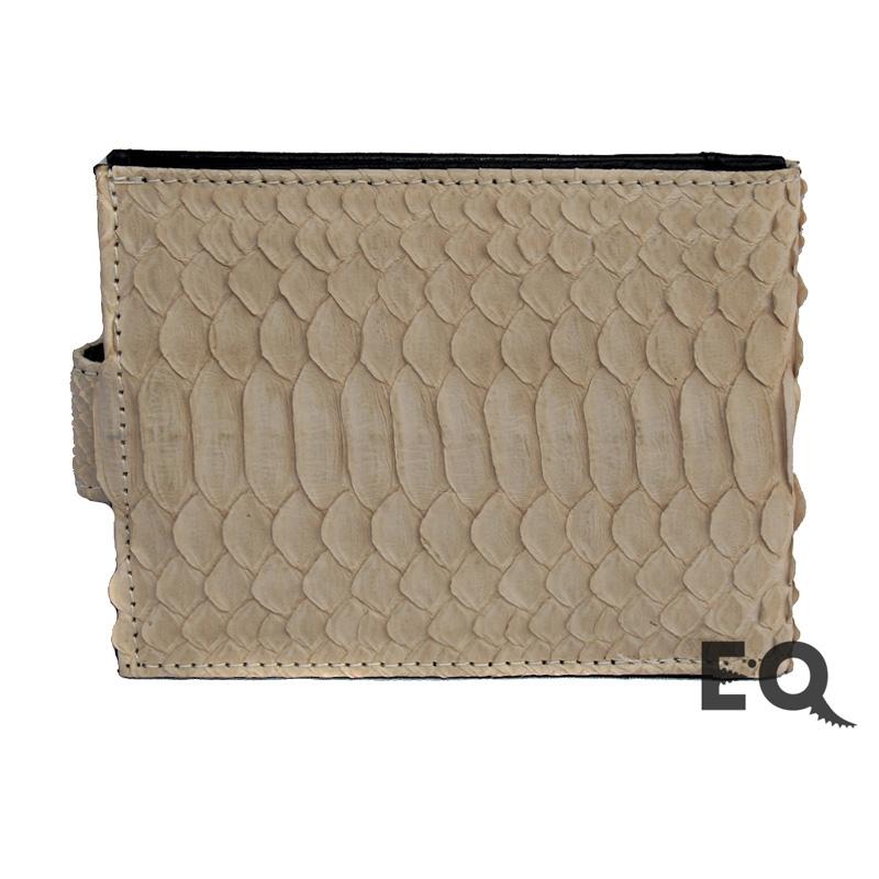 Бежевый бумажник из питона