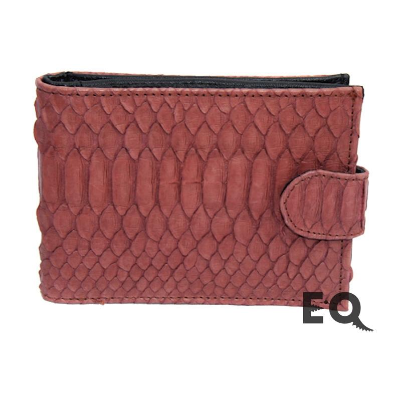 Темно-красный бумажник из питона