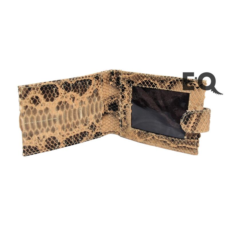 Темно-бежевый бумажник из питона