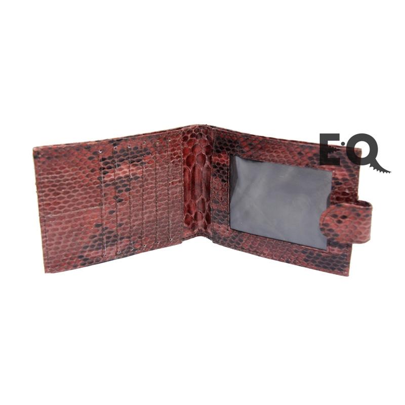 Темно-красный кошелек из питона