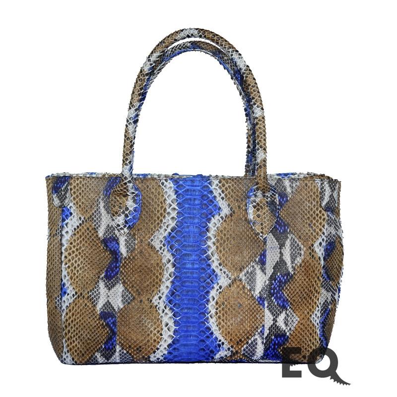 Радужная сумка из питона