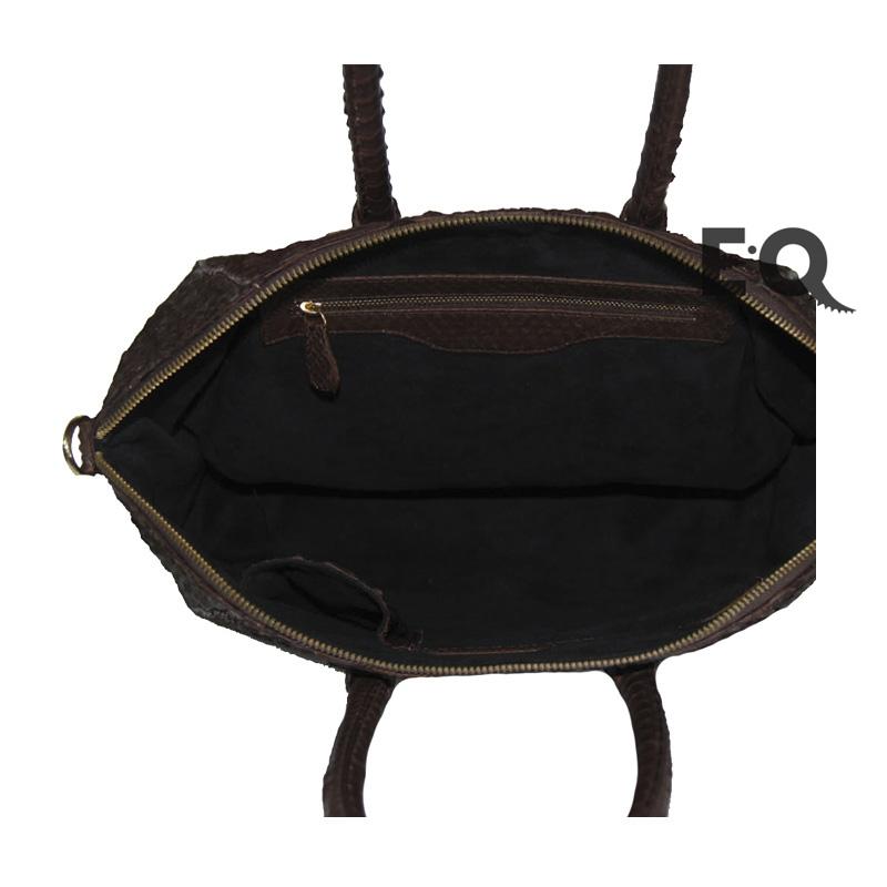 Коричневая сумка Givenchy из питона