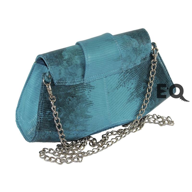 Бирюзовая сумочка из варана