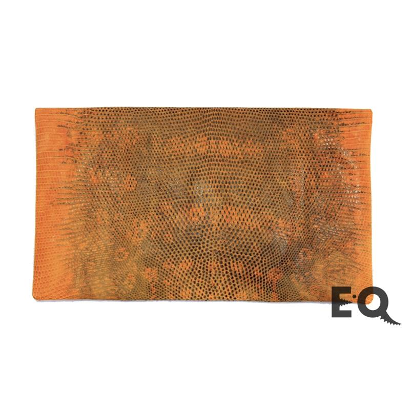 Оранжевый клатч из варана