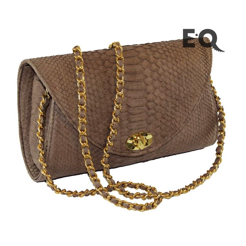 Коричневая сумочка из питона
