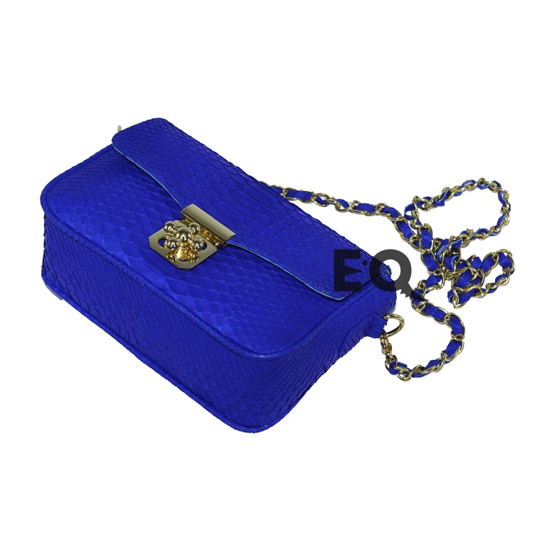 Синяя сумочка Chloe из питона