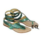 Зеленые сандалии из кобры