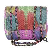 Радужная сумочка из питона