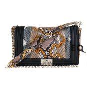 Радужная сумочка Chanel Boy из питона