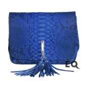 Синяя сумочка из питона