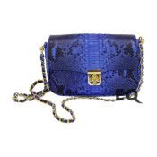 Темно-синяя сумочка Chloe из питона